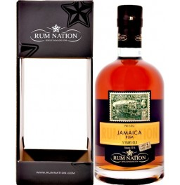 "Ром ""Rum Nation"" Jamaica Pot Still 5 Years Old, gift box, 0.7 л"