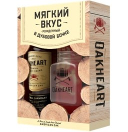 "Ром Bacardi ""OakHeart"", gift box with cup, 1 л"