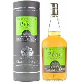 Ром Bristol Classic Rum, Reserve Rum of Peru, 8 Years Old, in tube, 0.7 л